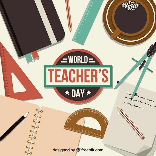 School stuff, world teacher's day