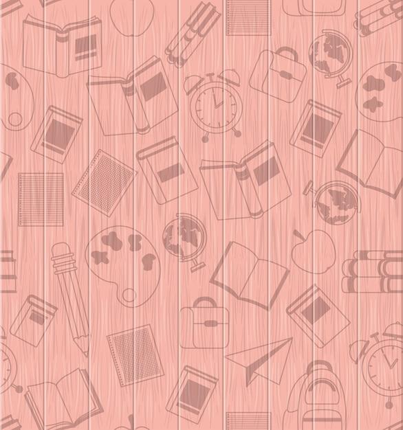 School supplies back to school pattern Free Vector