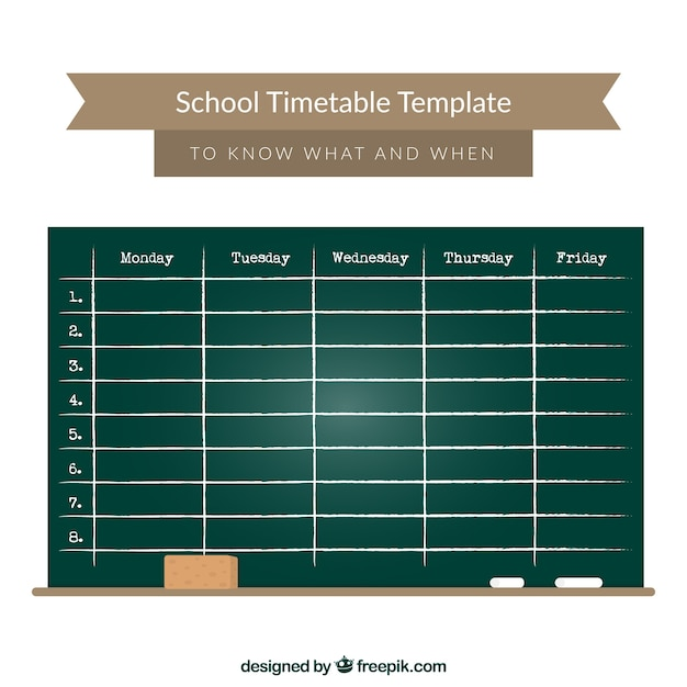 7 day schedule template