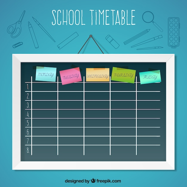 School timetable with post it vector free download school timetable with post it free vector maxwellsz