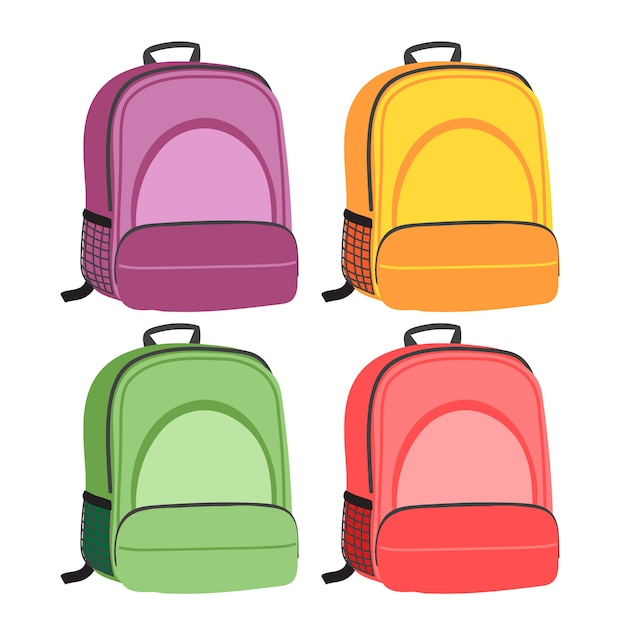 Schoolbag vector collection design Premium Vector