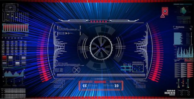 Sci fi фантастический интерфейс видоискателя. Premium векторы