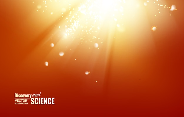 Science abstract background. Free Vector