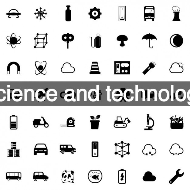 Technology icon set vector | free download.