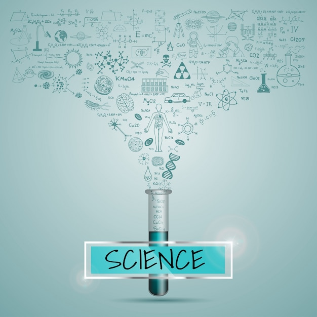 Science background design vector free download Blueprint designer free