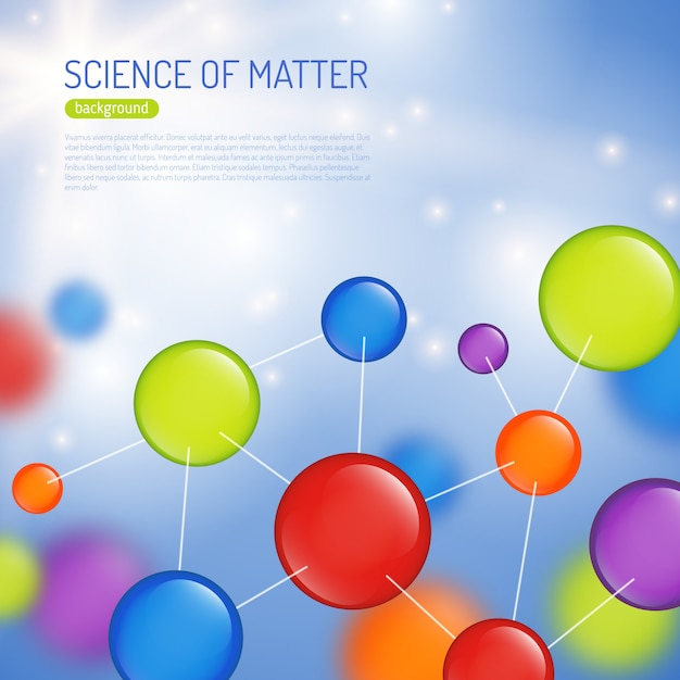 Science background illustration Free Vector