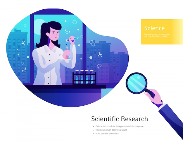 Science background poster Free Vector