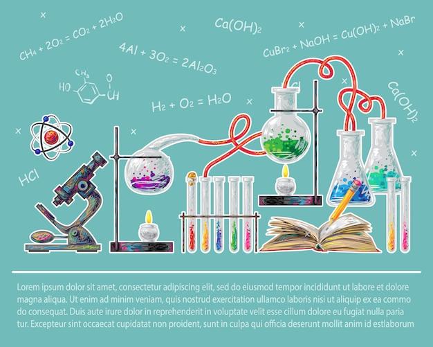 Наука цветная концепция Бесплатные векторы