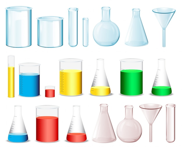 Science containers Free Vector