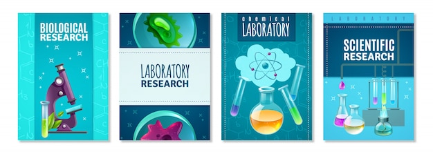 Science cover set Free Vector
