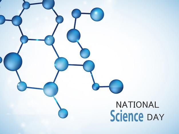 Science day background Premium Vector
