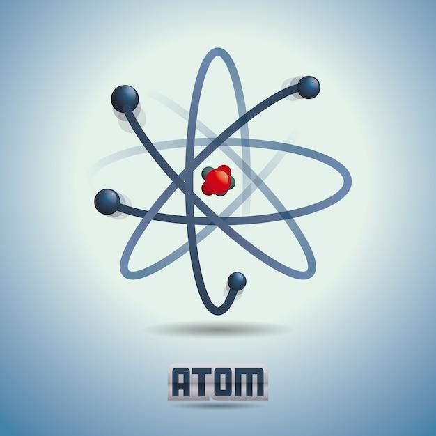 Science design over blue background vector illustration Premium Vector