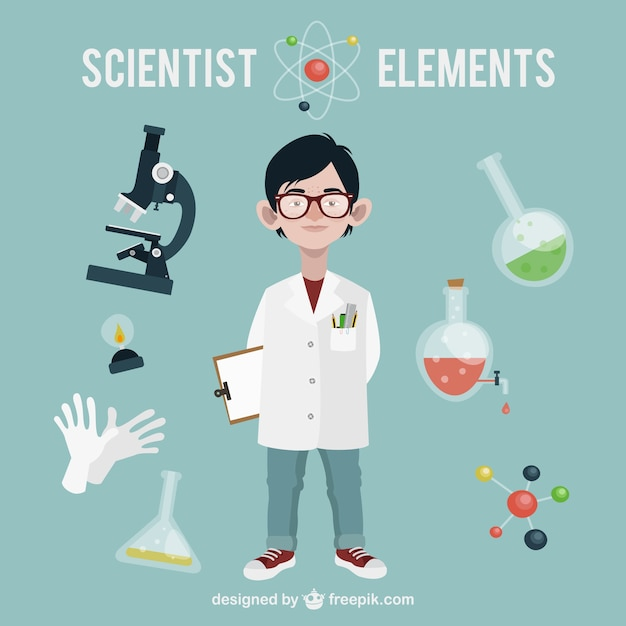 Download Scientist Vector Image