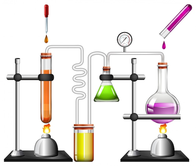 Science equipments Free Vector