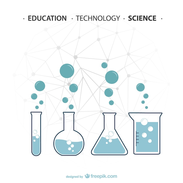 Science experiments in test tubes Free Vector