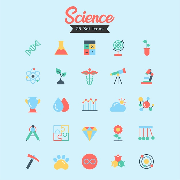 Science icon vector flat style Premium Vector