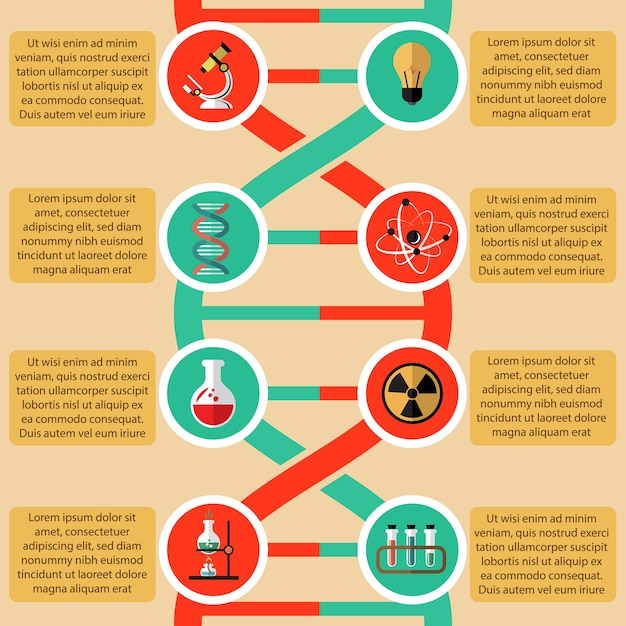 Physics And Chemistry Infographic Elements With Radioactive Sign