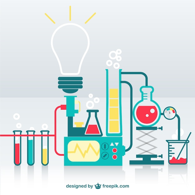 Science lab Free Vector