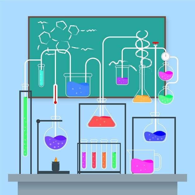 Научная лаборатория Бесплатные векторы