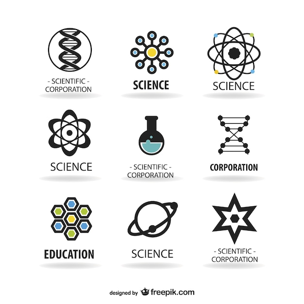 Science logos template Free Vector