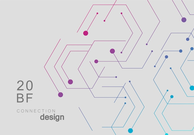 Science network connecting lines and dots simple background Premium Vector