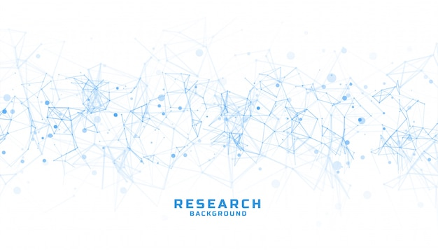 Science and research background with abstract lines Free Vector