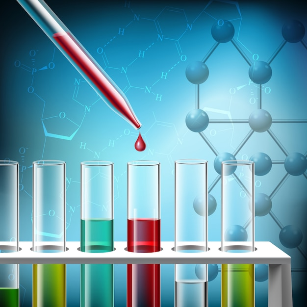 Science research closeup Free Vector