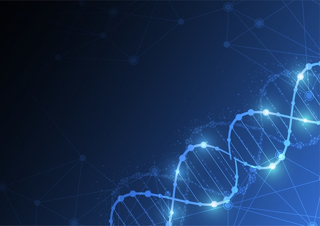 Science template, wallpaper or banner with a dna Premium Vector