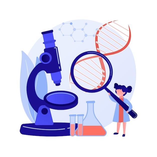 理系大学の授業。実験室での化学研究。液体分析、生化学試験、サンプル検査。大学の割り当て。ベクトル分離された概念の比喩の図。 無料ベクター