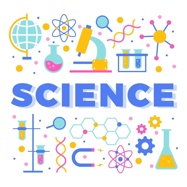 Science word concept Free Vector