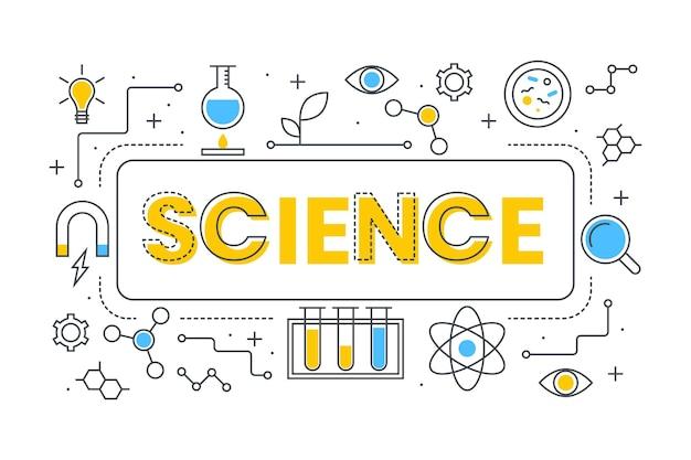 과학 단어 개념 프리미엄 벡터