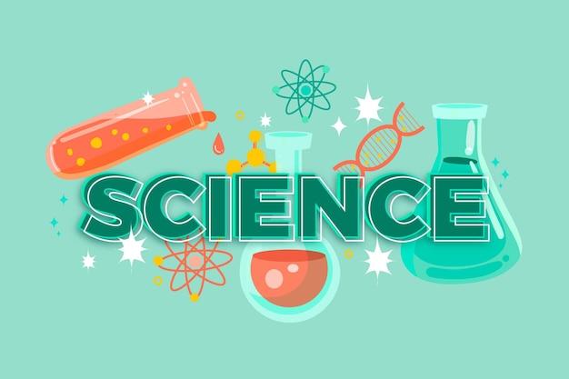 科学単語の概念 無料ベクター