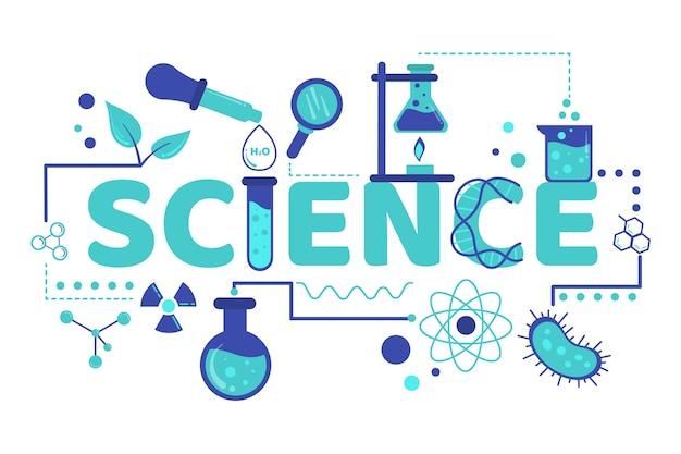 Science word illustration Free Vector
