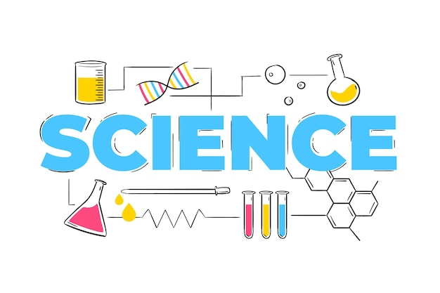 Science word style Free Vector