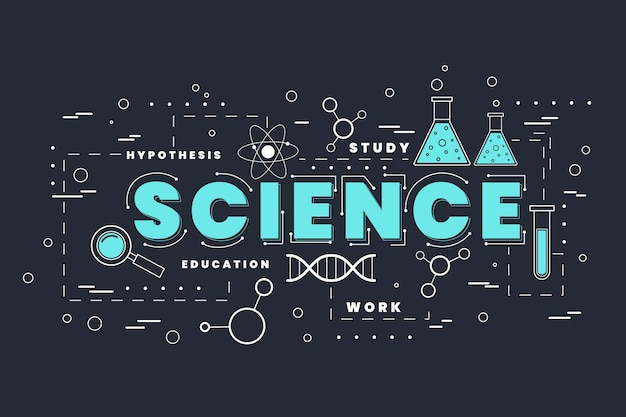 Science word theme Free Vector
