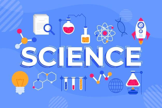 Science word Free Vector