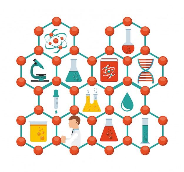 Scientific laboratory Premium Vector
