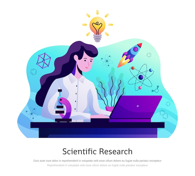 Scientific research abstract composition Free Vector