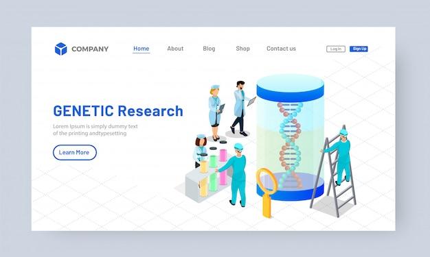 Scientists working on dna Premium Vector