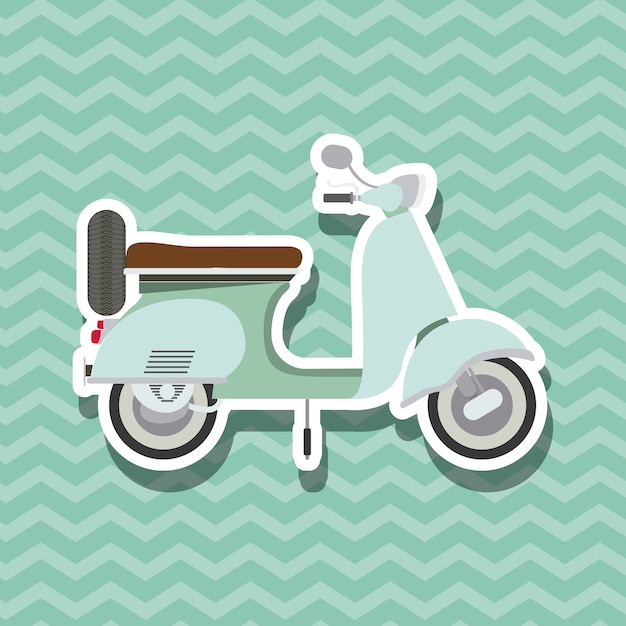 Scooter style design Premium Vector
