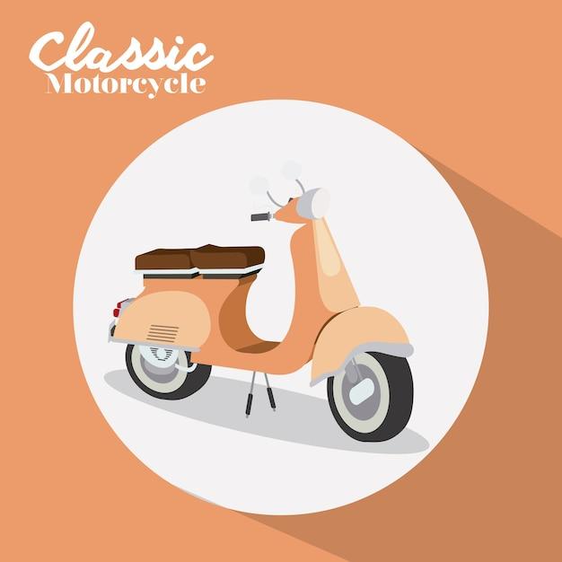 Scooter style design Premium Vector