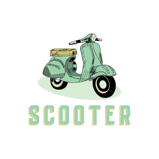Scooter vintage style design concept Premium Vector