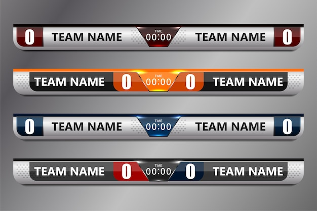Scoreboard broadcast graphic and lower thirds Premium Vector