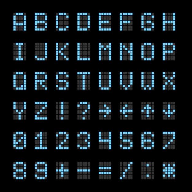 Scoreboard electronic digital signs Premium Vector