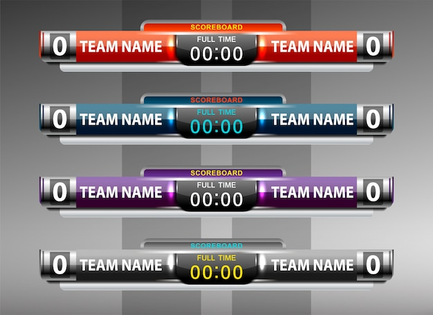 Scoreboard sport template for football and soccer Premium Vector