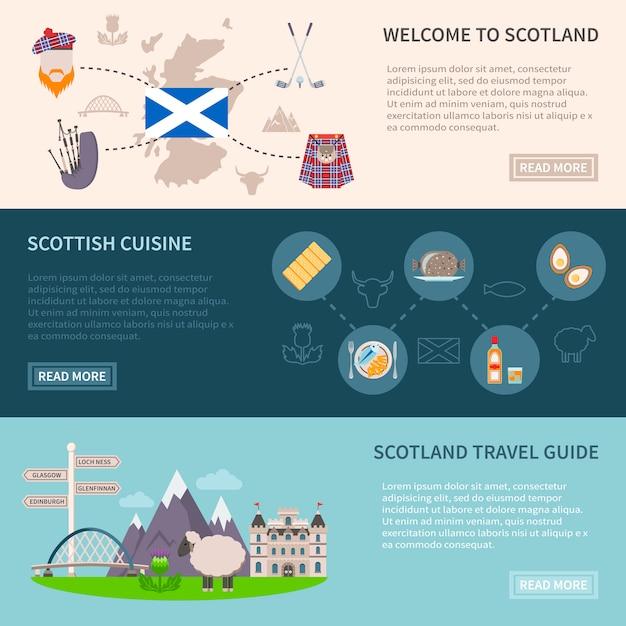Scotland banners set Free Vector
