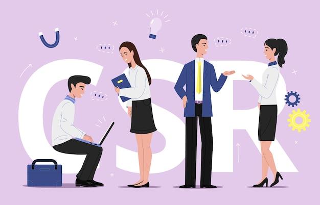 Иллюстрация корпоративного бизнеса scr Бесплатные векторы