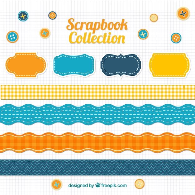 Scrapbook Accessories In Vintage Style Vector Free Download