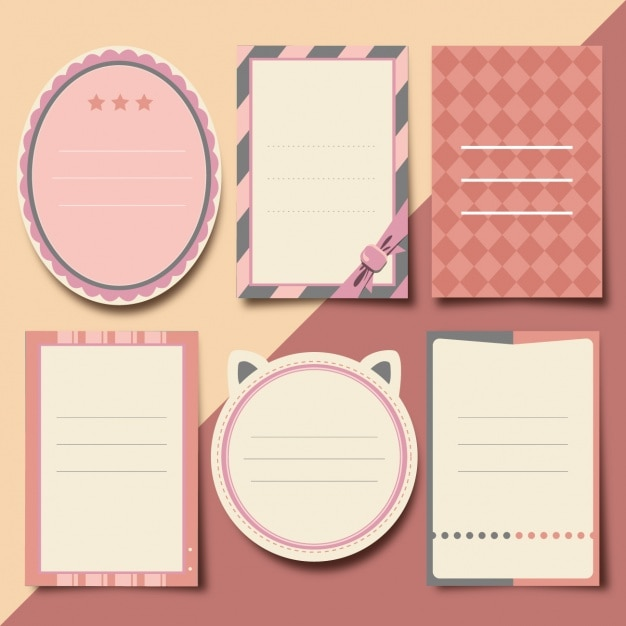 Scrapbooking elements collection Free Vector