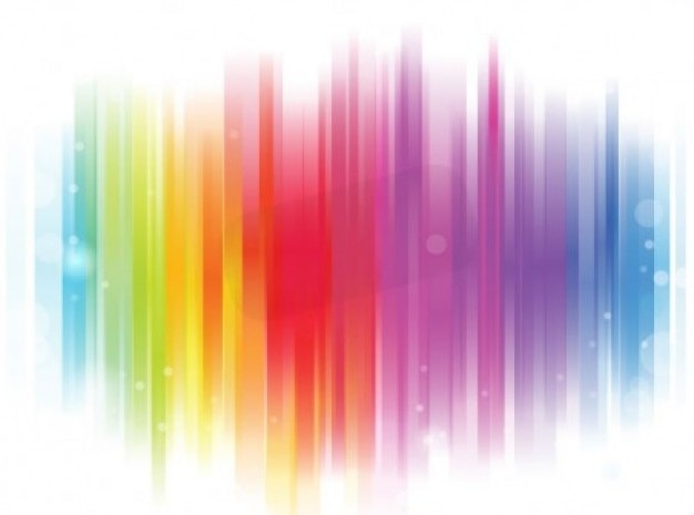 Scratched Rainbow On White Abstract Background Vector